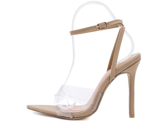Zapatos de mujer 2019 chaussures femme talons hauts sandales femmes sapato feminino sandalias ayakkabi été sandalia gelée transparente