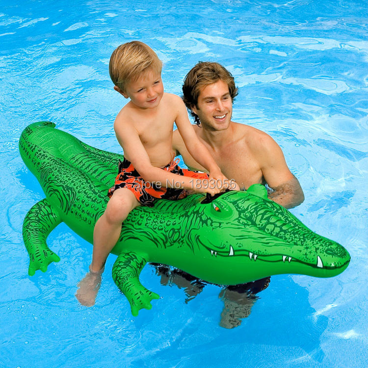 Intex PVC Inflatable Toy For Kid Inflatable Crocodile Ride On Inflatable  Animal Alligator Giant Cayman Floating Swimming Rings In Swimming Rings  From Sports ...