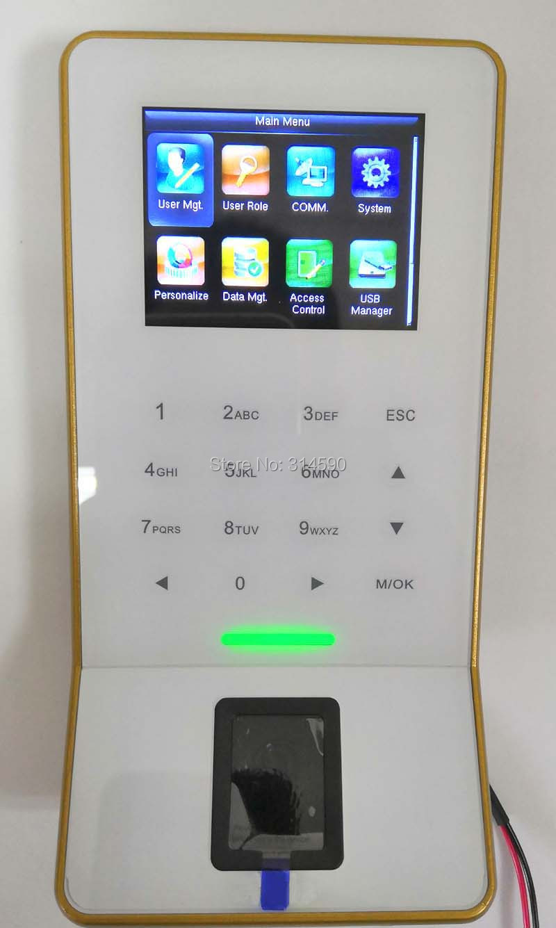 ZK F28 WiFi Fingerprint Time Attendance ZK F28 Door Access Control System With WIFI Door Access Controller F28 Time Attendance