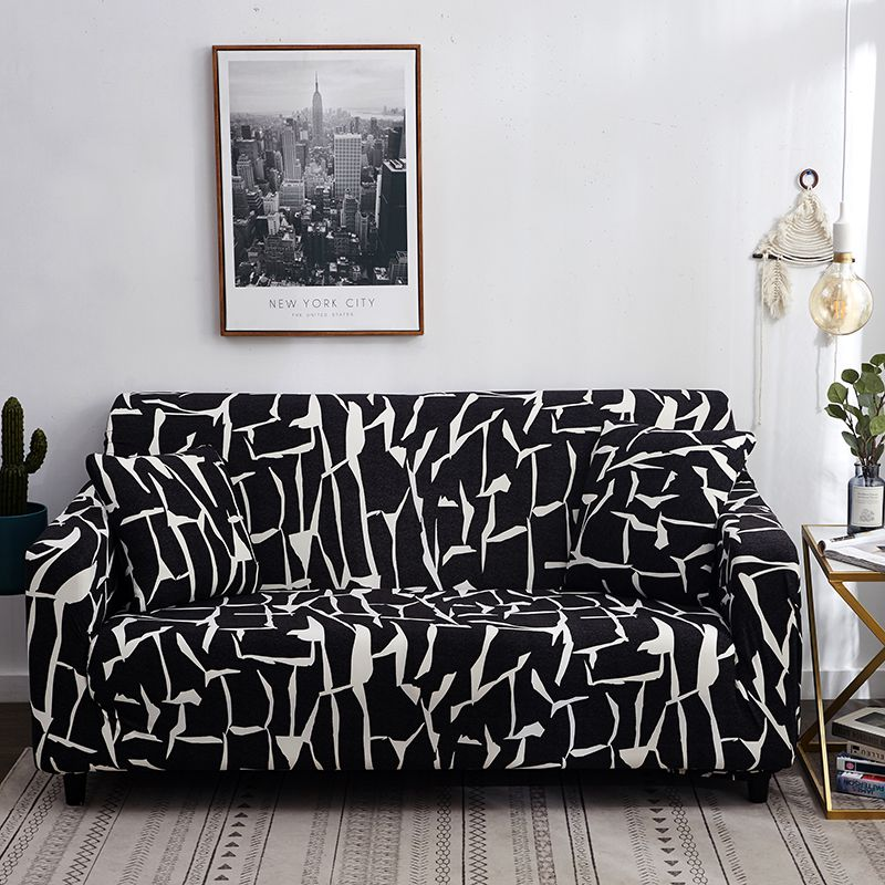 Sofa Cover Spandext for Living Room Stretch Leather Couch Covers Elasitc Sectional Sofa Slipcovers for Furniture Protection