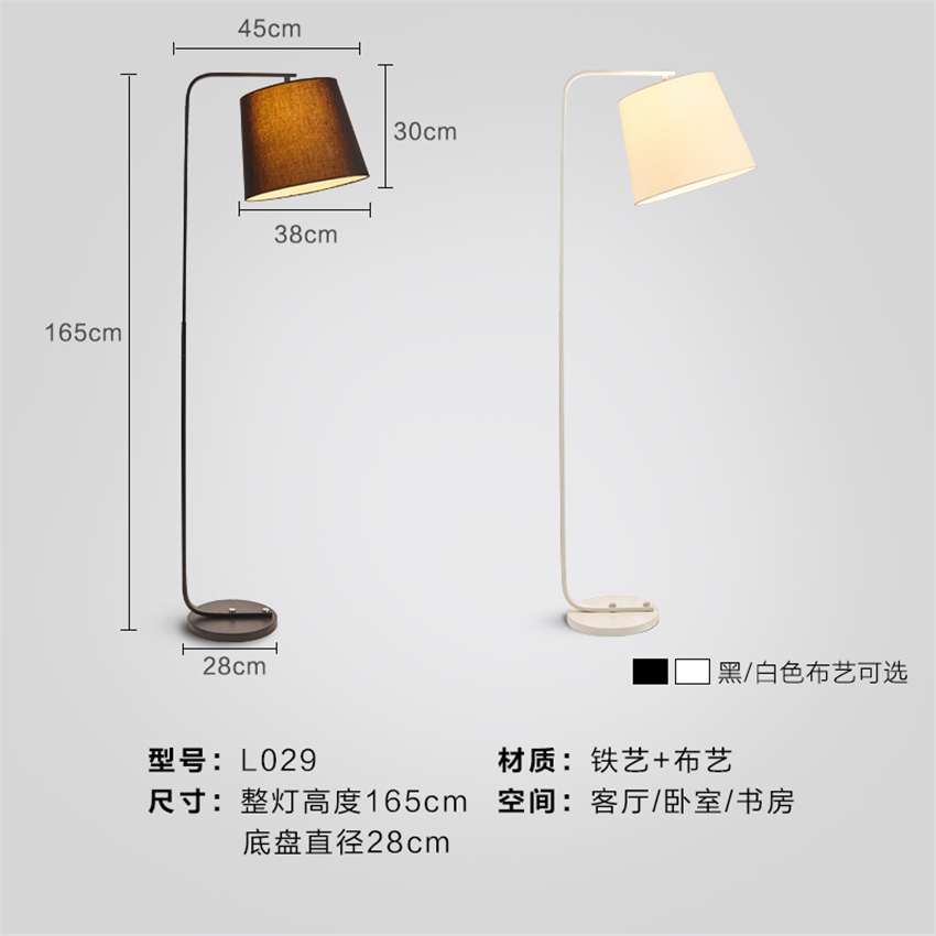 Mega Sale #55b73 Modern LED Iron Floor Lamps Lights