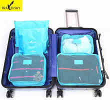 Clothes pouch finishing bags socks Storage bag luggage clothes pouch 6pcs / set