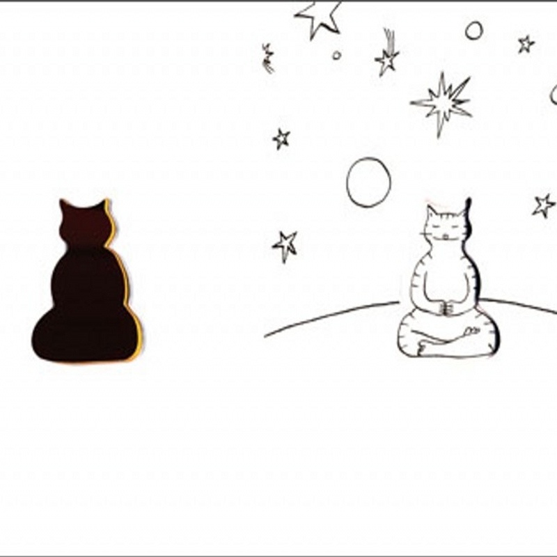 The Meditating Cat Coloring Book For Children Adult Graffiti Painting Cahier Coloriage Adulte Libros Para Colorear Adultos In Books From Office