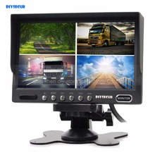 DIYSECUR High Quality 7″ Inch Split Quad Display Color Video Monitoring Monitor For Car Truck Bus Video Surveillance System