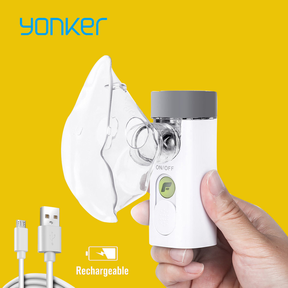 Yonker Medical Nebulizer Handheld Asthma Inhaler Atomizer for children health care usb rechargeable mini Portable Nebulizer