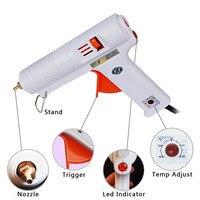 100 120 W Hot Melt Glue Gun Professional Adjustable Temperature Fit 11mm Stick With Conversion Plug
