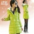 7 Colors! 2014 new Women's PU ol slim medium-long cotton-padded jacket female winter outerwear wadded jacket women Free Shipping