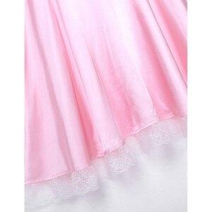 Image 5 - Seksowne męskie Sissy kostiumy dziewczyna pokojówka sukienka, mundurek kostium lalka szyi z krótkim rękawem satynowa sukienka z pałąkiem na głowę i fartuch Sexy Cosplay