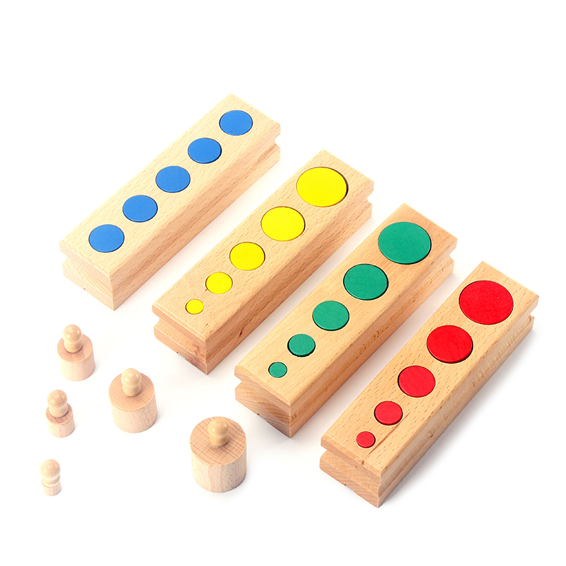 Upgraded Montessori Materials Colorful Socket Cylinder