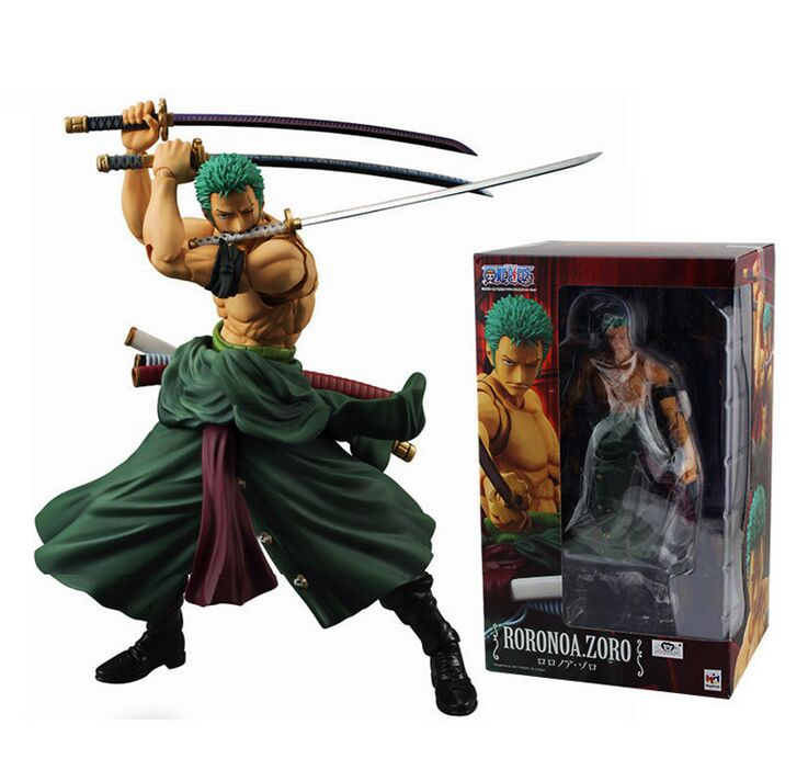 Japanese One Piece Three font b knife b font flow PVC Action FiguresPVC Figure Model18CM