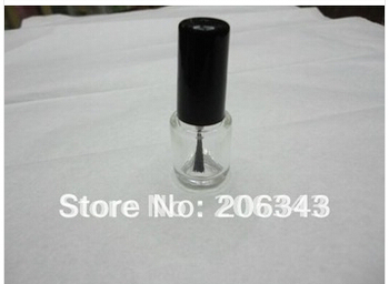 5ml glass bottle with black lid brush for  nail polish /enamel/nail oil /art nail container, cosmetic packing brush bottle