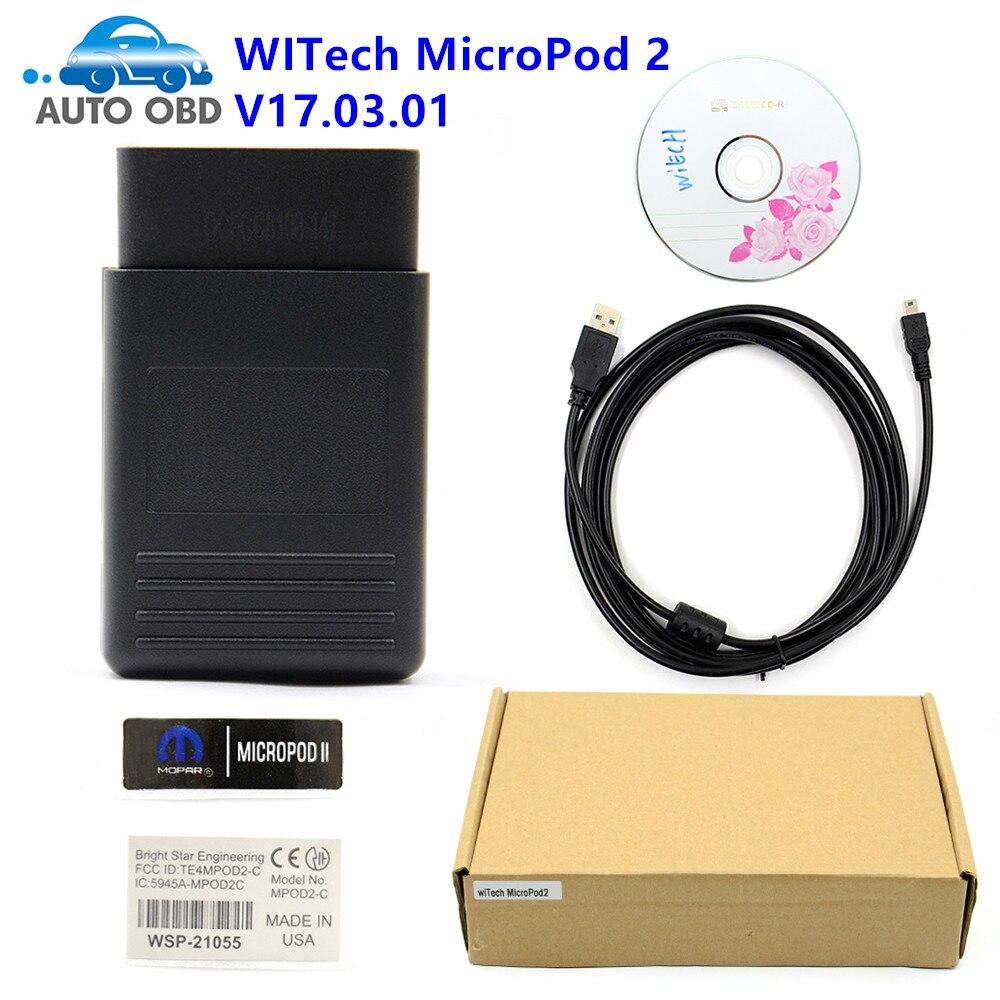 Цена за DHL Бесплатная Новые WITECH micropod 2 V17.03.01 нескольких языков WITECH micropod 2 для Chrysler инструменту диагностики WITECH MicroPod2