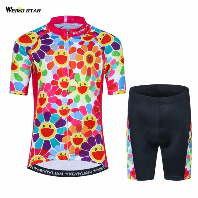 d3414d2c2 Kids Cycling Clothing Children Bike Jersey Shorts sets Bicycle Top Ropa  Ciclismo Girl Boy mtb Shirts Suit Pink S-XXL