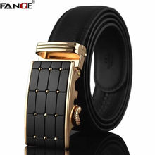 FANGE Leather belt men male genuine leather belt Automatic Buckle Fashion Designer High Quality Man belts luxury brand FG3009A