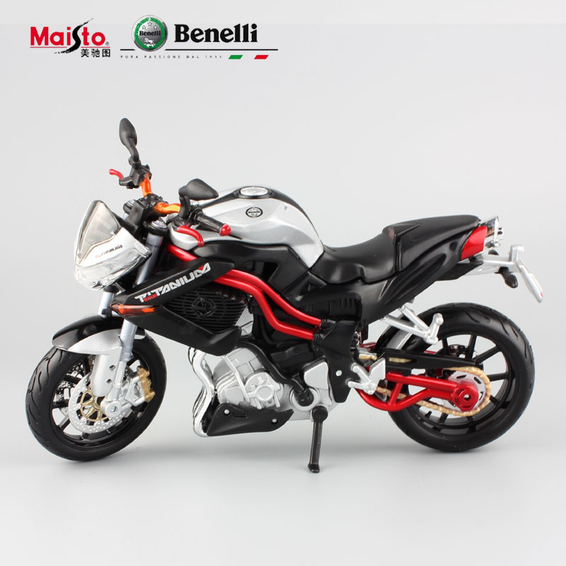 Masito 1:12 scale Benelli TNT TITANIUM motorbike race cars mini collectible motor diecast models of motorcycles for kids toys