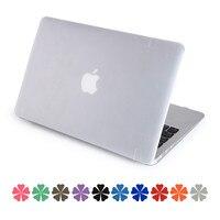 Voor apple Macbook AIR 13 case matte doorschijnende air pro retina 11 12 13 15 Beschermhoes + Siliconen toetsenbord protector