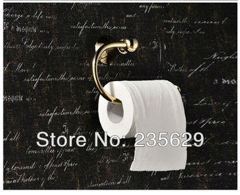 Free Shipping, Wall Mounted Toilet Roll Holder,Antiqued Solid Brass Toilet Roll Holder - Dispenser for toilet rolls