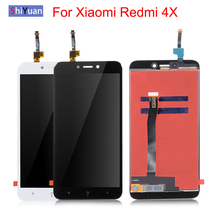 цена на For Xiaomi Redmi 4X LCD 5 Inch Complete Display Screen Touch Panel Redmi 4X LCD digitizer Assembly Spare Repair Parts Tested