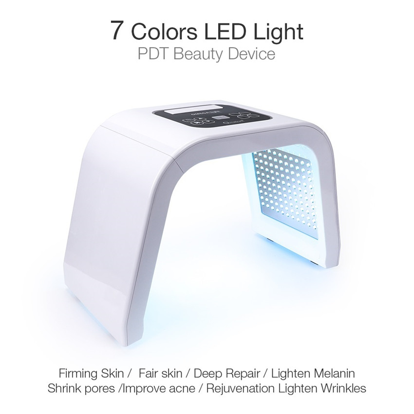 New 7 Colors LED Light PDT Beauty Device  Skin Firming Anti-Wrinkle Acne Remover Skin Rejuvenation Device Beauty Machine