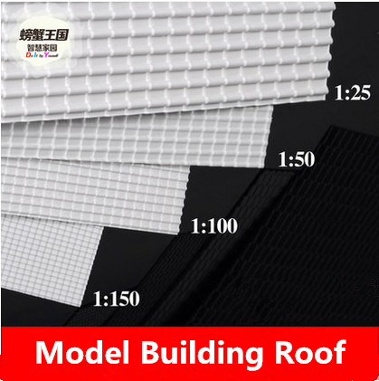 Diy Construction Sand Table Model Material Abs Board Roof Tile Landscape Simulation Plastic Corrugated
