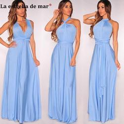 Vestido de madrinha de casamento longo 2019 шифоновые А-образные коралловые конверсионные Платья для подружек невесты Дешевый халат hond'honneur