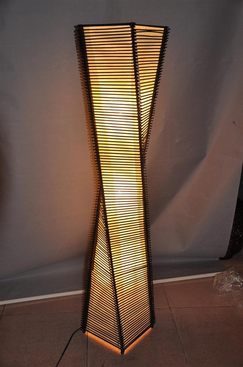 Bamboo Lamp Living Room