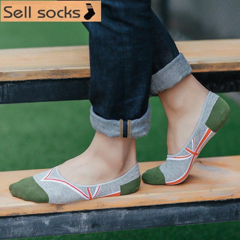 2017 new summer Silica gel anti slip meter invisible socks Casual man socks cotton sock slippers EUR39-44