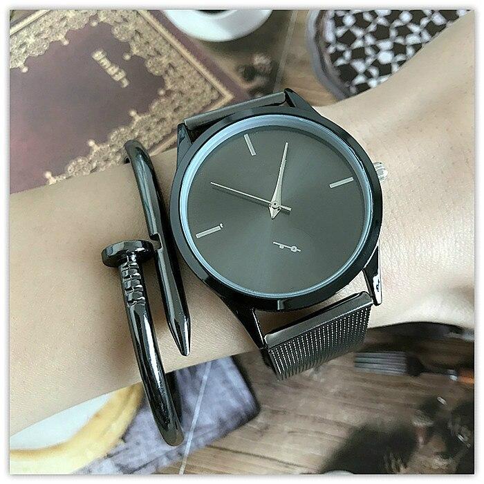 Luxury Brand Men Watch Classic Simple Ultra-Thin Alloy Mesh Watch Women Dress Clock Female Quartz Wristwatch Zegarek Damski