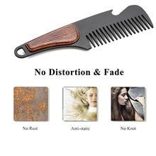 Portable Male Beard Comb Stainless steel Men's Oil Head Comb Anti-static Pocket Mustache Brush Styling Tools
