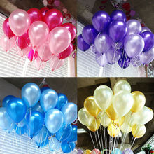 100 X10 inch Latex Birthday Balloon Colorful Celebration Pearl Wedding Greeting Home Party Pearlised