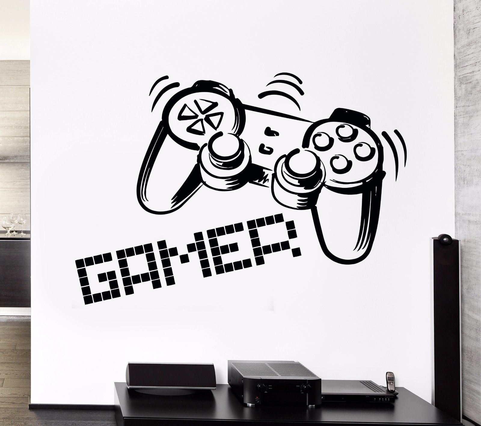 Playing Room Wall Stickers Vinyl Decal Gamer Video Games