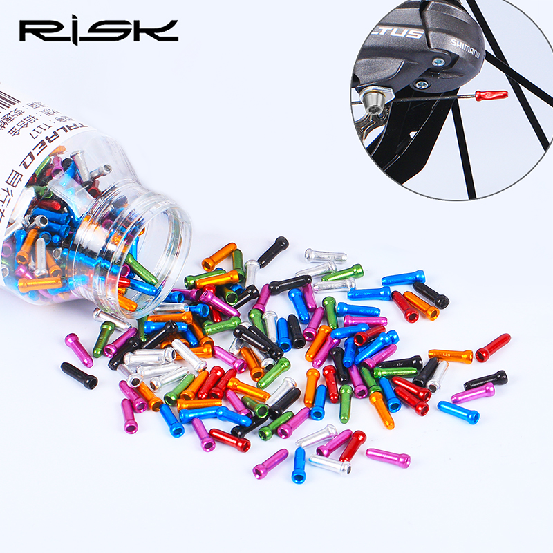500 ALLOY BICYCLE SHIFTER BRAKE CABLE WIRE TIPS CAPS CRIMPS ENDS BOTTLE OF 500