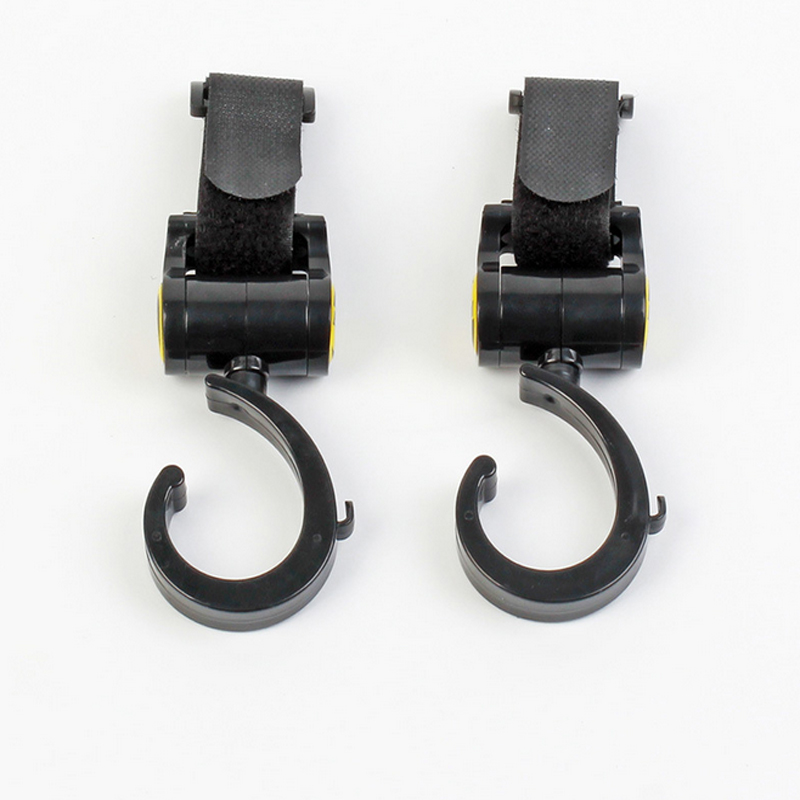 Pack Of 2pcs Multi Purpose Baby Pram Stroller Pushchair Swivel Hanger Hooks Baby Carriage Stroller Accessories
