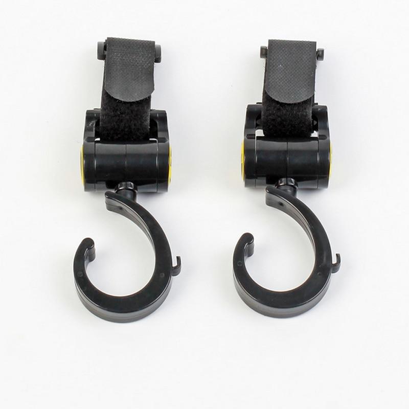 Pack Of 2pcs Multi Purpose Baby Pram Stroller Pushchair Swivel Hanger Hooks Baby Carriage Stroller Accessories