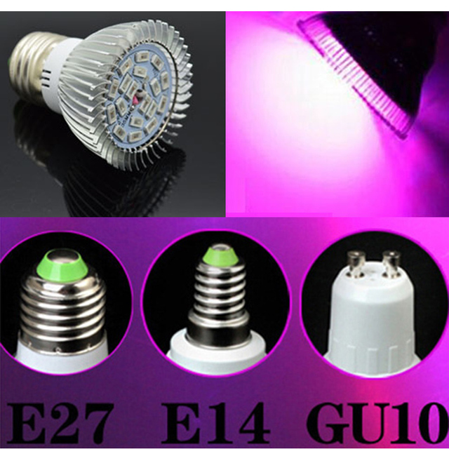 Full spectrum LED Grow lights 10W18W E27 E14 GU10  LED Grow lamp bulb for Flower plant Hydroponics system AC 85V  265V grow box