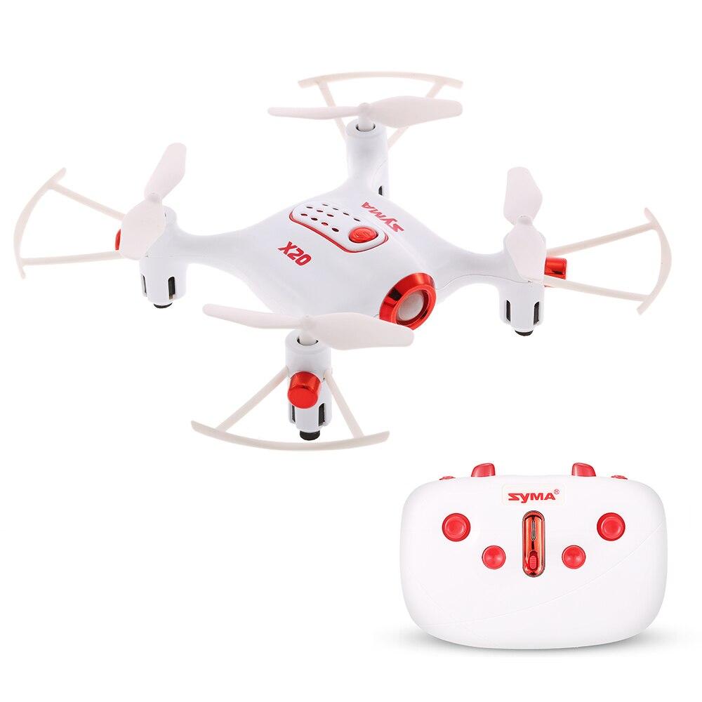 Le plus récent Mini hélicoptère Syma X20 rc avec Mode sans tête Altitude tenue 3D-flip poche drone dron jouets pour enfants garçons cadeau