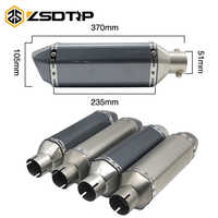 ZSDTRP 35-51mm Universal Motorcycle Slotted/not Slotted Exhaust For Honda cb650f nc750x ATV Dirt Pit Bike Akrapovic Escape Moto