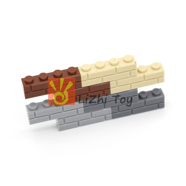 Moc Brick, Modified 1 x 4 with Masonry Profile (Brick Profile) Wall DIY Building Enlighten Block Bricks 15533
