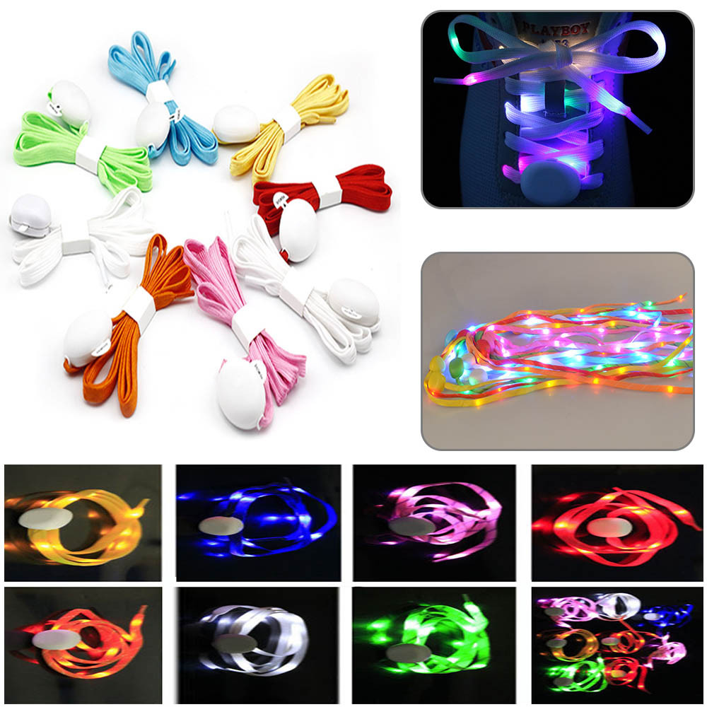 1 Pairs Luminous Shoelace Glowing Casual Led Shoes Strings Athletic Shoes Party Camping Shoelaces For Growing Canvas Shoes