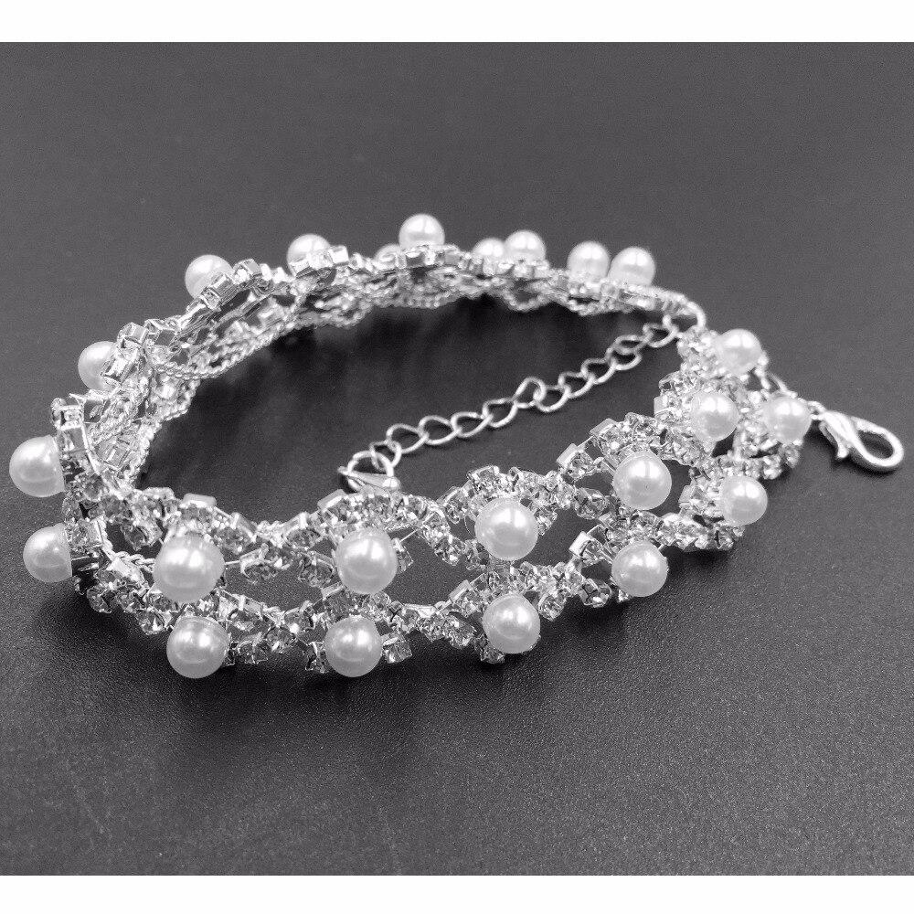 Elegant Women Crystal Rhinestone Infinity Bangle Bracelet Deluxe Jewelry Gift EV