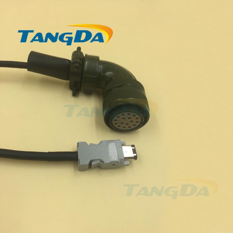 все цены на Tangda Servo motor code line series connection wire Cable 5 meters SGDM-10ADA SGMGH-09ACA61 Encoder Electric machinery