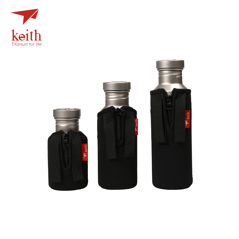 Keith Outdoor Titanium Water Kettles With Titanium Lids Drinkware Camping Ultralight Travel Water Bottles 400ml 550ml 700ml