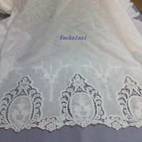 Cotton Embroidery Lace Fabric Double Sides 135cm
