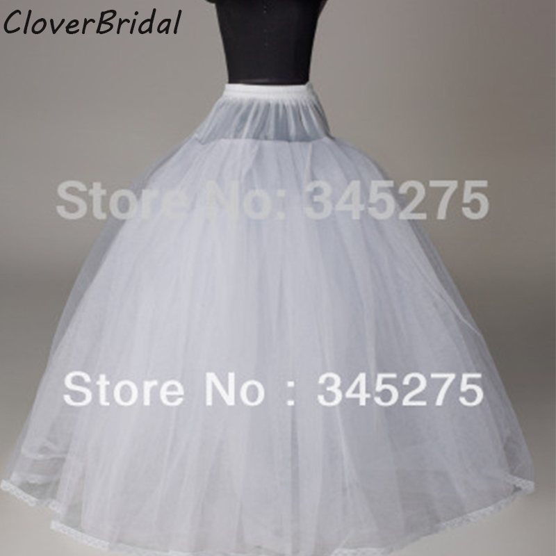 High Quality Nylon Full Gown 4 Tiers Floor-length Slip Style/ Wedding Petticoat Bridal Accessories WT9988