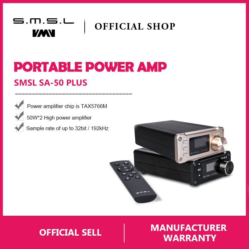 SMSL SA 50 Plus HiFi 50W AUX Optical USB Disk Portable Power Amplifier Digital Amplifier