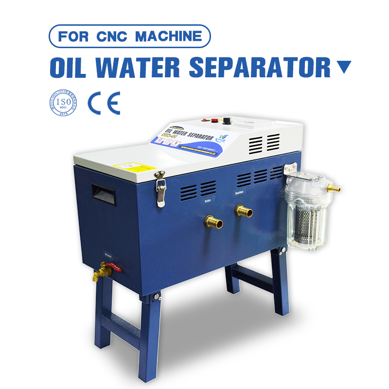 How to clean the oil from the cutting fluid tank oil water purifier