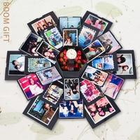 Explosion Gift Box Creative Photo Album Birthday Valentine's Gift with DIY Accessories Kit Handmade Boom Gift Box DIY Album