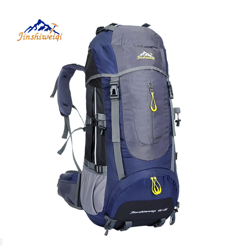Large 70L Outdoor Backpack Unisex Travel Climbing Backpacks Waterproof  Rucksack Nylon Camping Hiking Backpack 3e670ccbc8