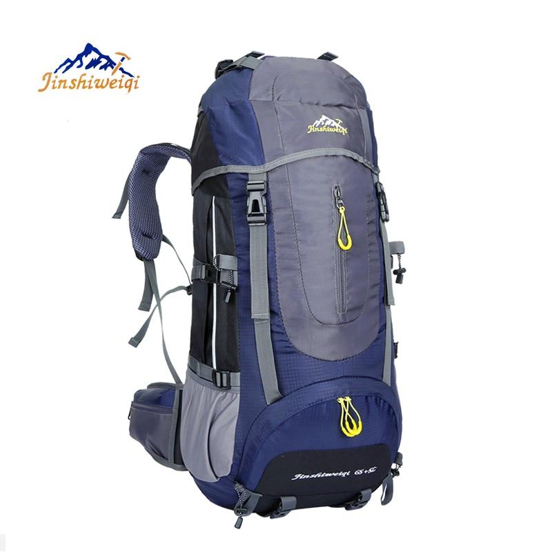 Large 70L Outdoor Backpack Unisex Travel Climbing Backpacks Waterproof Rucksack Nylon Camping Hiking Backpack цена