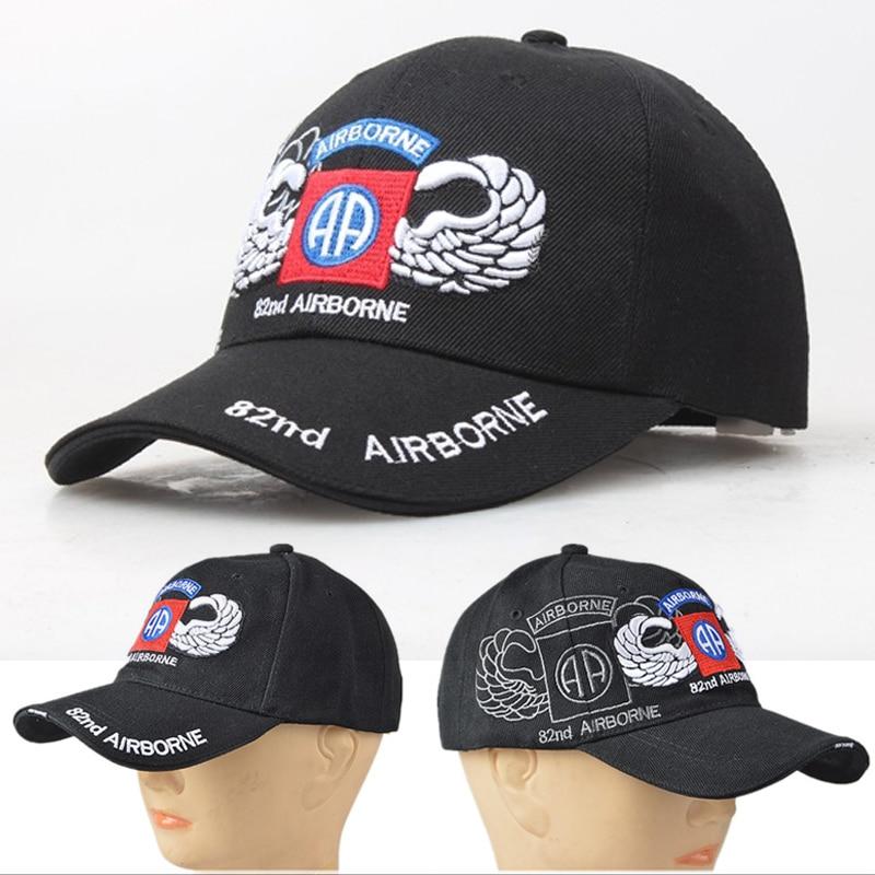 Airborne Division Casual Baseball Cap Adjustable Fashion UV Protection Cap Hat Men Women 100% Cotton Hats Outdoor Shade Caps